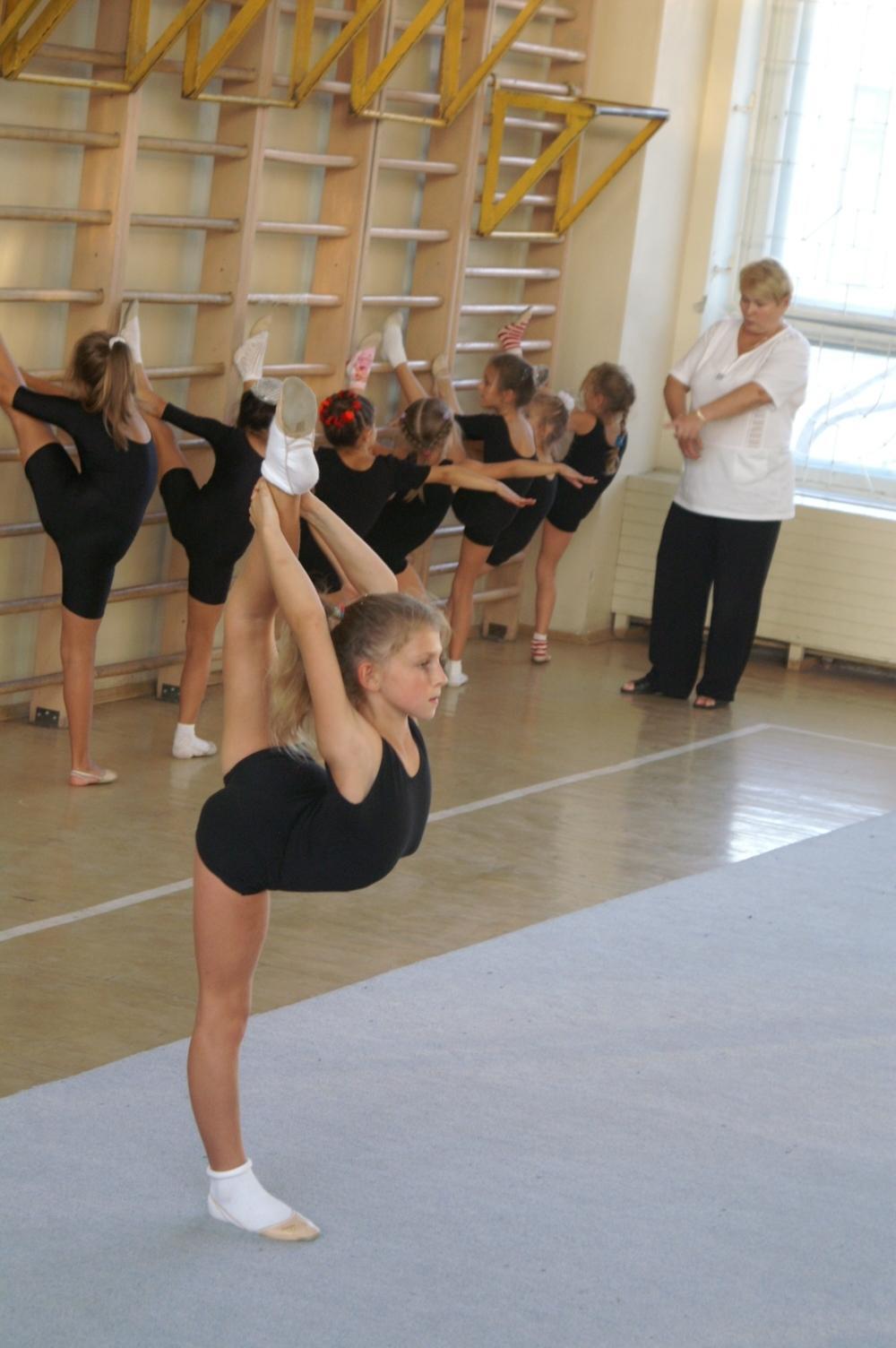 Тренировка гимнастки было